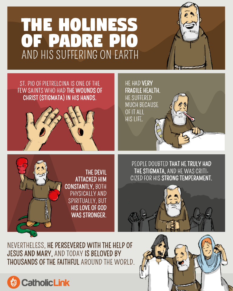 he holiness of Padre Pio and his suffering on earth