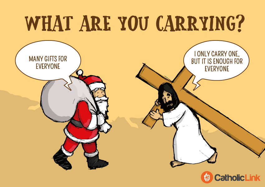 Jesus vs. Santa Claus - What Are You Carrying
