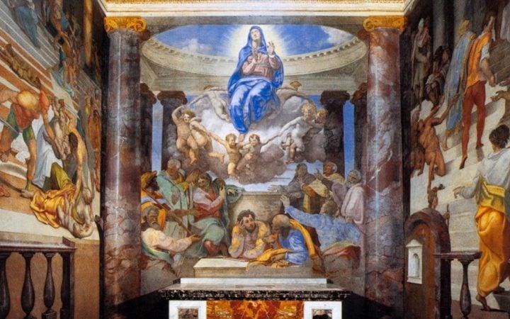 DANIELE da Volterra, The Assumption of the Virgin, c. 1555, Fresco, Santissima Trinità dei Monti, Rome
