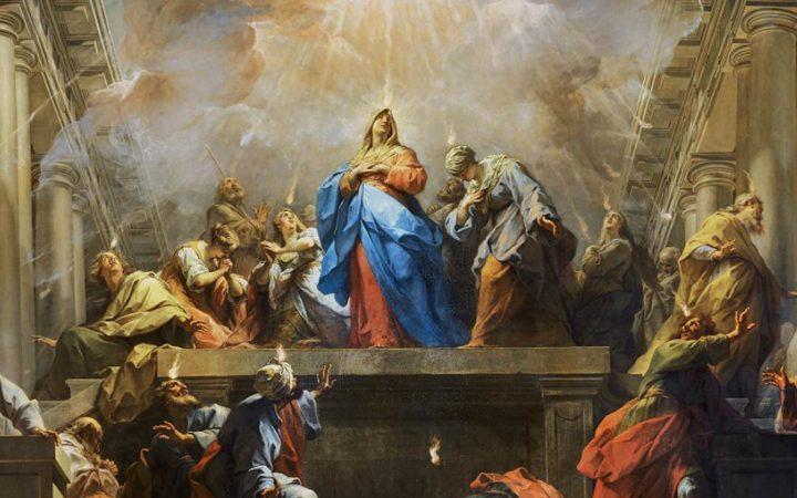 Jean Restout, Pentecost (detail), 1732, Oil on canvas, Musée du Louvre, Paris
