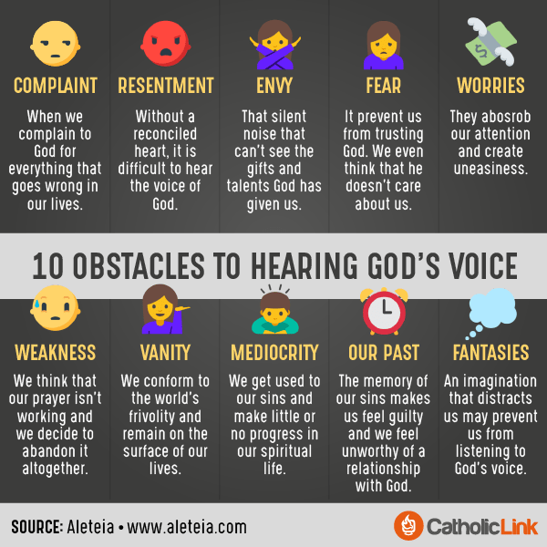 Obstacles to Hearing God's Voice