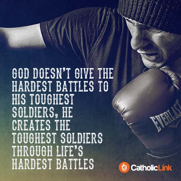 God Creates Soldiers Through The Hardest Battles Spiritual Warfare Quote