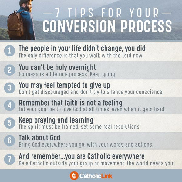 Catholic quotes, infographics, memes and more resources for the New Evangelization. Infographic: 7 tips for your conversion process Catholic