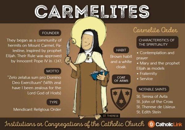 Carmelites 9 Orders Within The Catholic Church | Catholic-Link.org