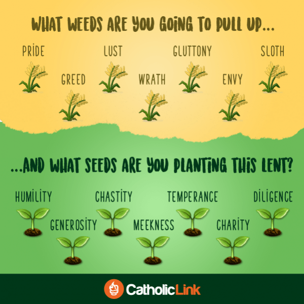 Vice Virtue What Weeds Are You Going To Pull Up This Lent?