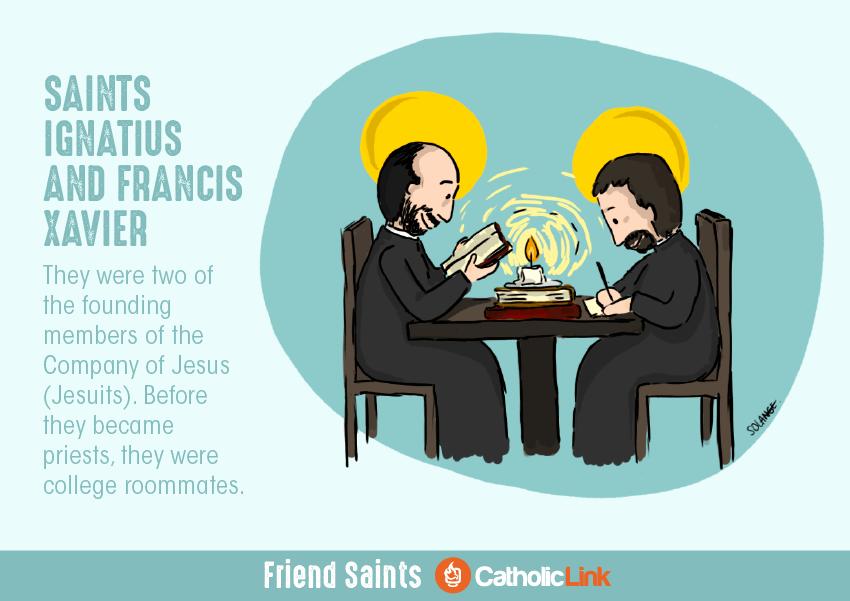 Saint Friends St. Ignatius and St. Francis Xavier