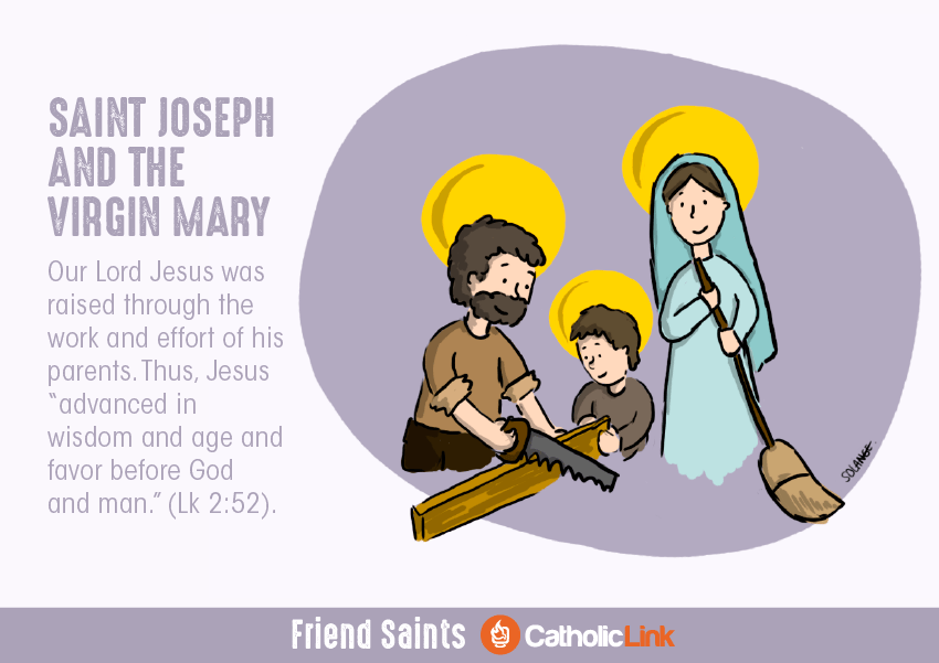 Saints Who Were Friends St. Joseph and the Virgin Mary