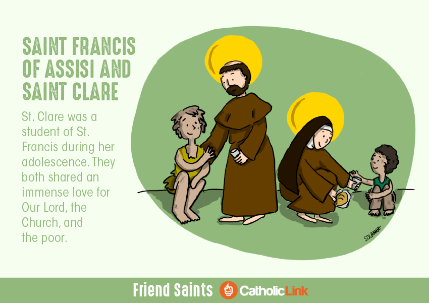 friendship saints st. francis and st. clare