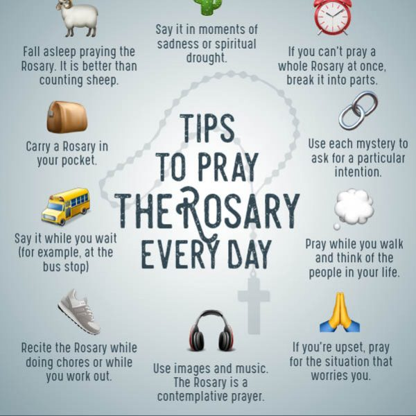 Infographic: Tips To Pray The Rosary Every Day | Catholic-Link