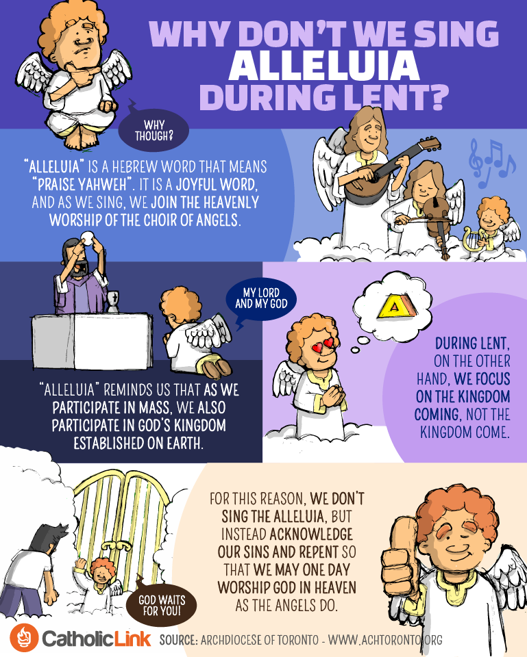 "Why Don't We Sing ""Alleluia"" During Lent? Catholic Lent Resources"