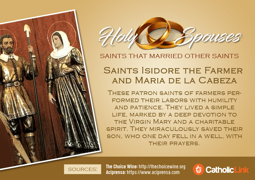 Married saints who were married