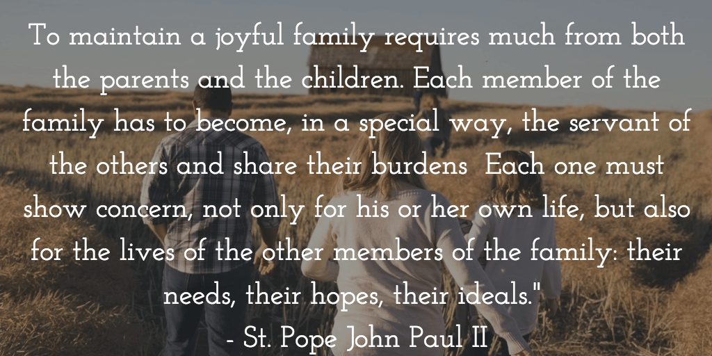 Pope John Paul II Mother's Day Quote