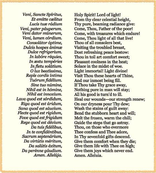 Veni Sancte Spiritus
