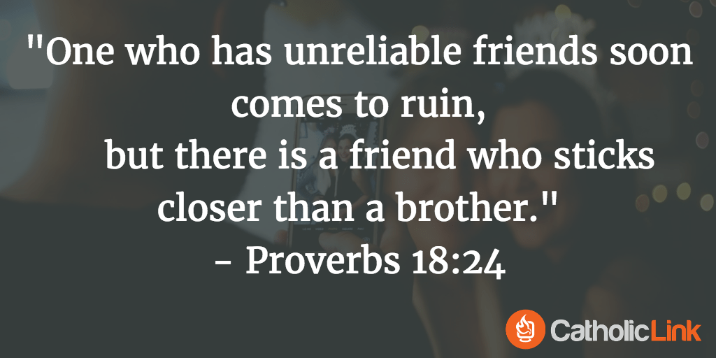 Catholic Bible Verse Friendship, Quotes on Friendship from the Saints