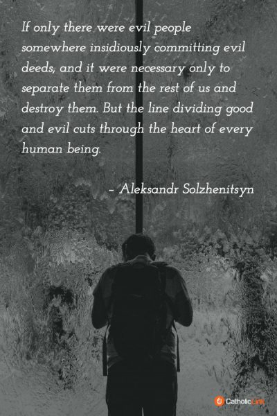 judgmental Solzhenitsyn good and evil