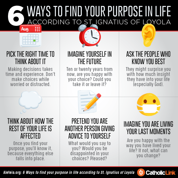 Infographic: 6 Ways To Find Your Purpose In Life Catholic Discernment