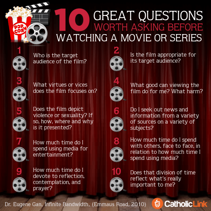 Catholic Movie Review 10 Questions Worth Asking Before Watching A Movie