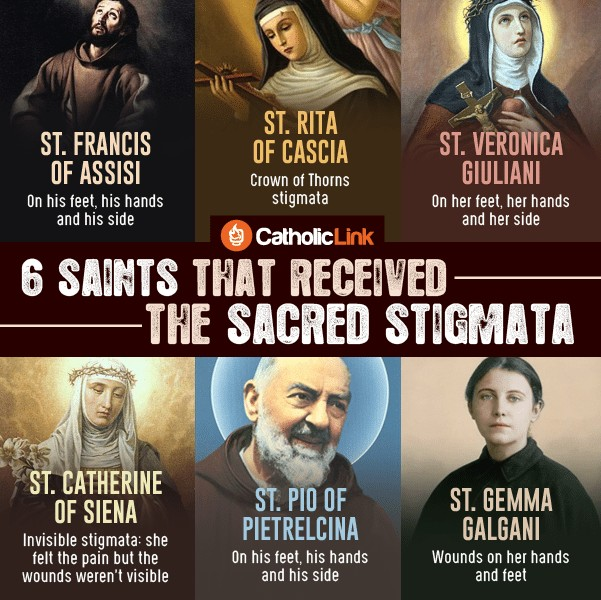 Infographic: 6 Saints That Received The Sacred Stigmata