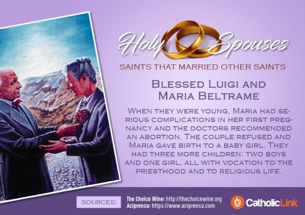 Blessed Luigi and Maria Beltrame Married Saints Spouses Catholic