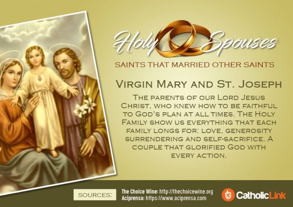 Married Saints Mary and St. Joseph