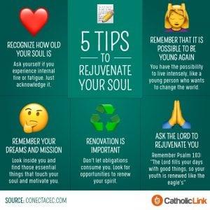 5 steps to rejuvenate your soul