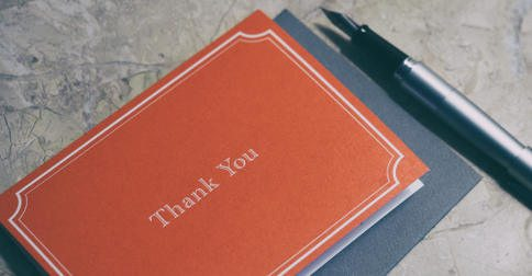 Twelve days thank you card and pen