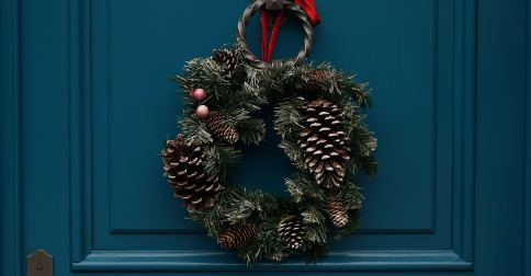 Twelve days front door Christmas wreath