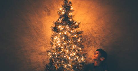 Twelve days Christmas tree boy