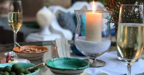 Twelve days celebratory table setting