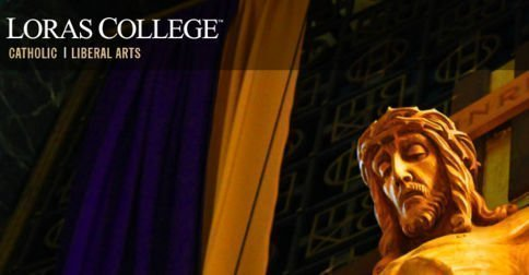 catholic social teaching Loras College banner