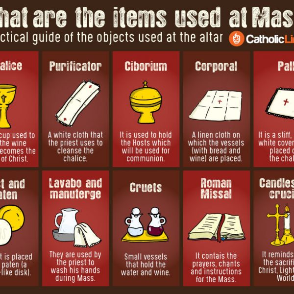 What are the items used at Mass? Practical guide Catholic Mass
