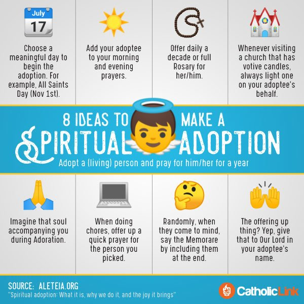 Infographic: 8 Ideas to Make a Spiritual Adoption