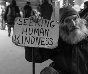 Alms almsgiving Lent Pillar of Penance homeless man