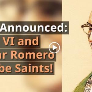 Saint Pope Paul VI and Saint Oscar Romero