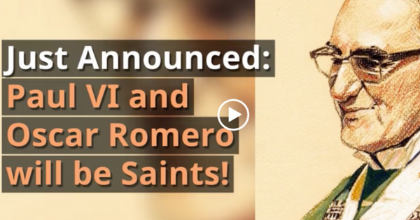 Saint Pope Paul VI and Saint Oscar Romero