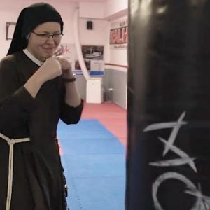 Capuchin Sisters of the Sacred Heart nuns working out boxing catholic