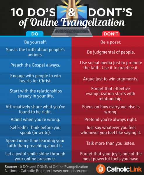 10 Do's And Don'ts Of Online Evangelization