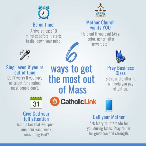 Catholic quotes, infographics, memes and more resources for the New Evangelization. Infographic: 6 ways to get the most out of Mass.