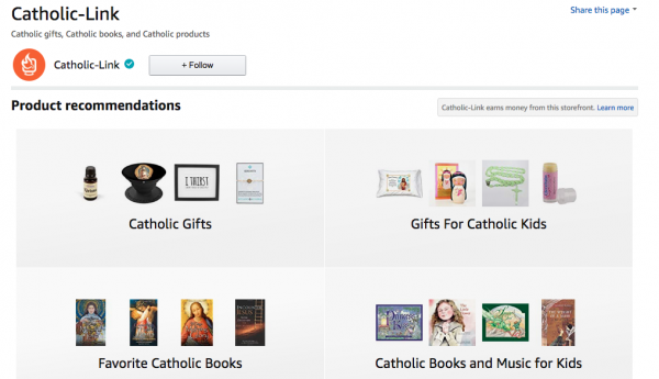 Catholic-Link Amazon Page Catholic Gifts Catholic Books Catholic Products