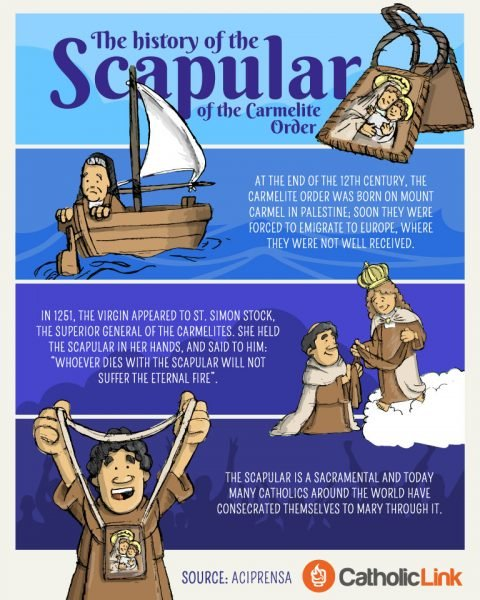 The History Of The Brown Scapular
