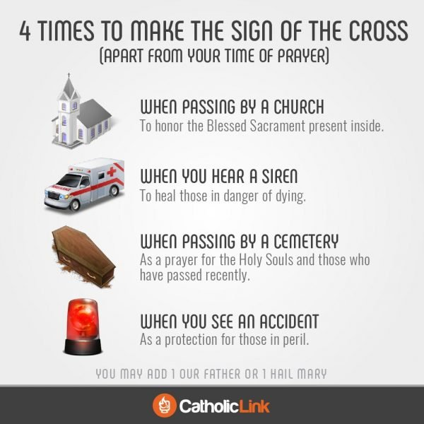 4 Times To Make The Sign of the Cross and What It Means