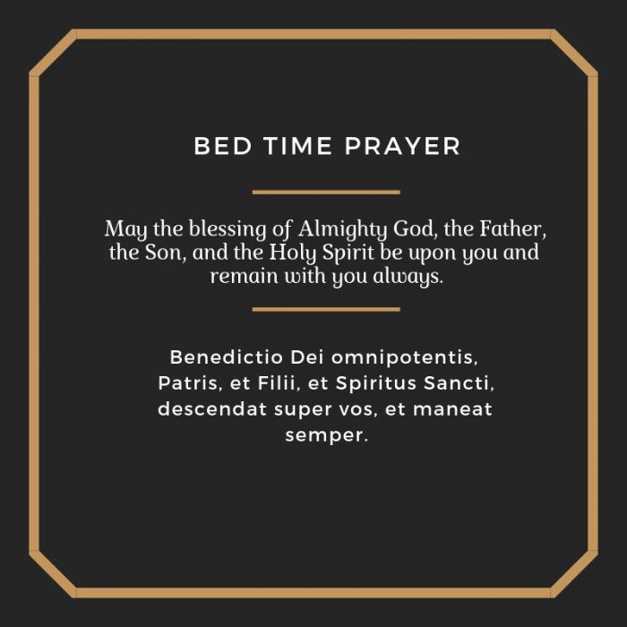 Bedtime prayer Catholic