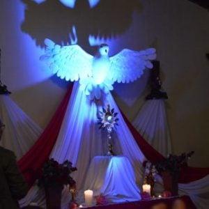 april eucharist and holy spirit devotion