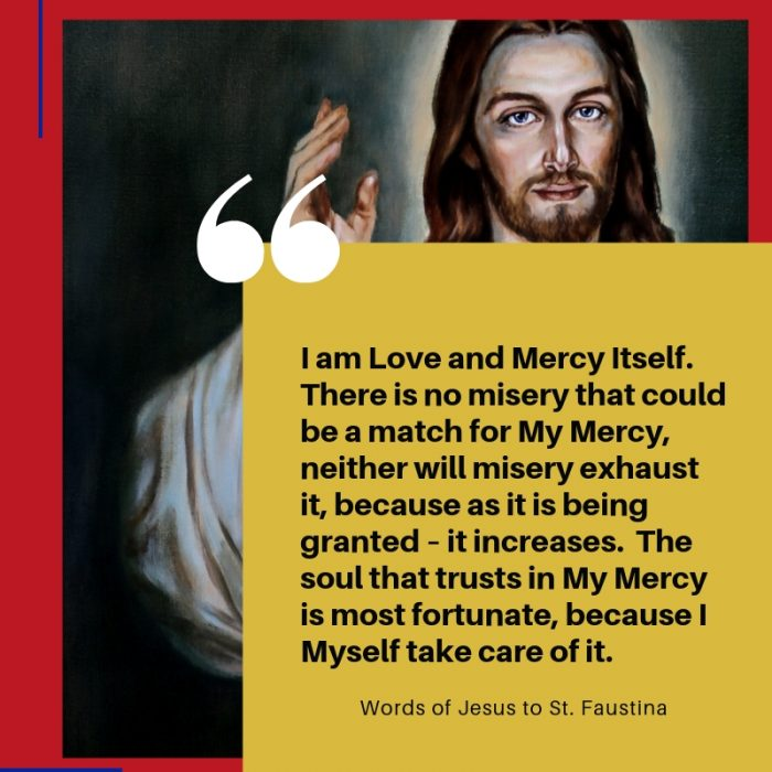 Divine Mercy Sunday Words of Jesus to St. Faustina