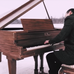 Incredible Piano Concert On A Frozen Lake Is An Act Of Prayer