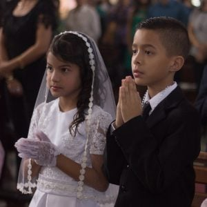 First communion prayer prepare the way for Jesus in the heart of (your child) St. Tarcisius, keep safe the children who are making their First Communion.