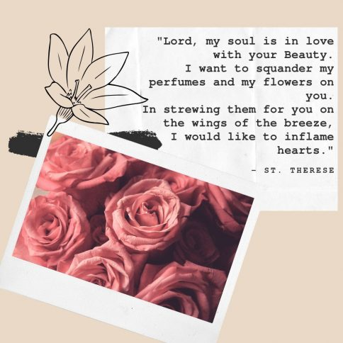 St. Therese poem Strewn Flowers