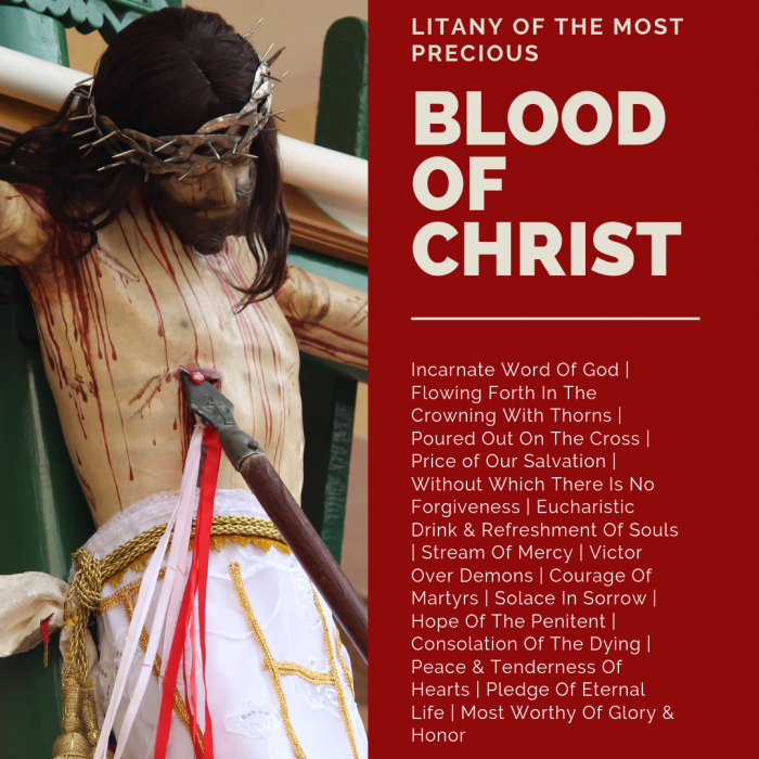 Litany of the Most Precious Blood Of Christ