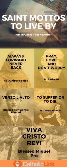 Mottos of the Saints
