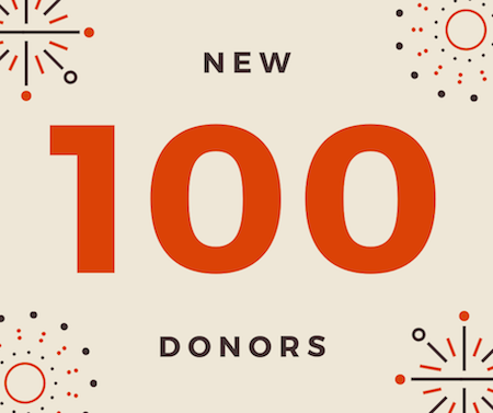 100 New Donors!